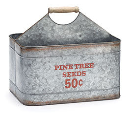 Tin Pine Tree Seeds Caddy