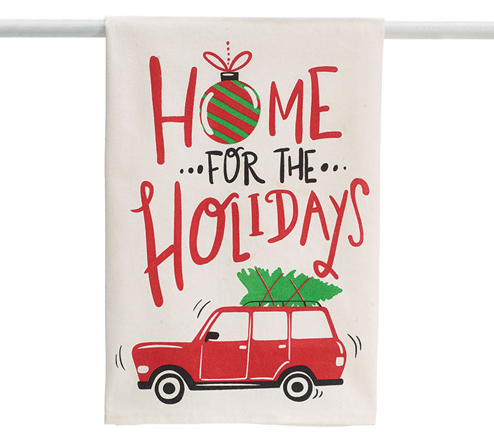 White Home for the Holidays Towel