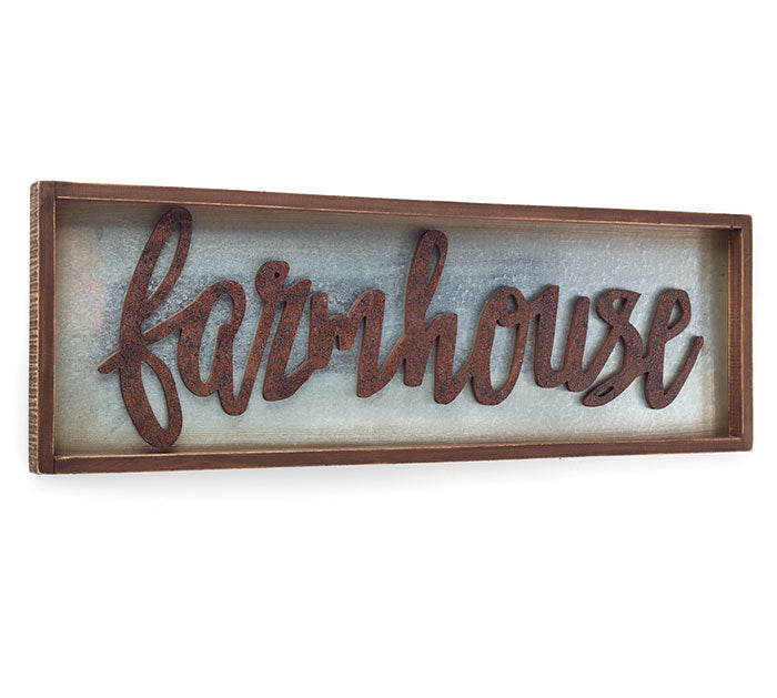 Metal Farmhouse Wall Hanging