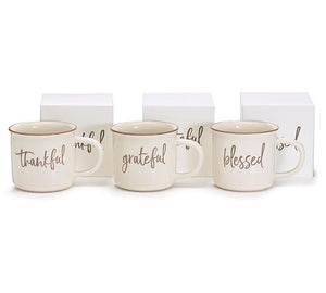 Thankful Grateful Blessed Mugs