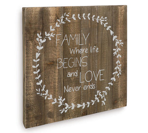 Love Never Ends Wall Hanging
