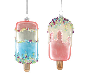 Glass Ice Cream Bar Ornament