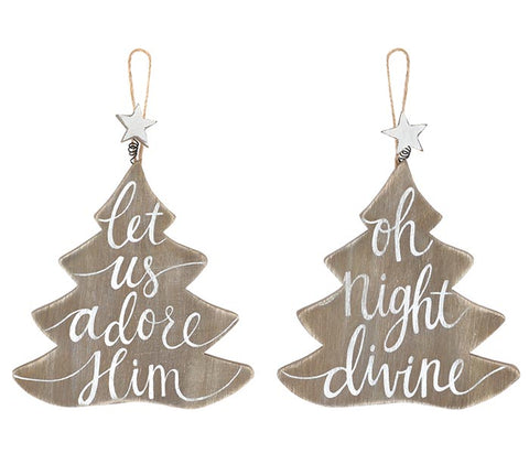 Christmas Tree Message Ornament
