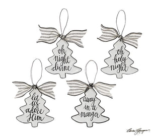 Christmas Tree Shape Ornament with Message