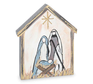 Hand Painted Nativity Shelf Sitter