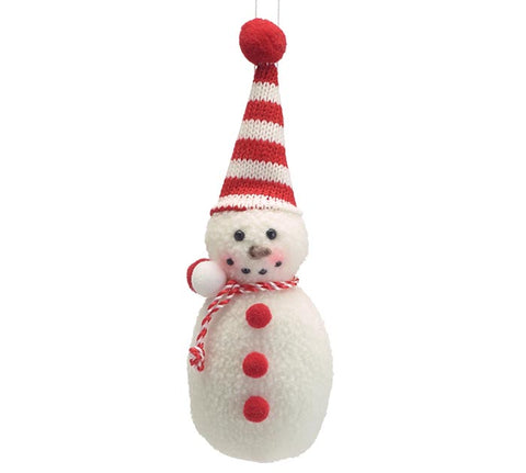 Plush Snowman Christmas Ornaments