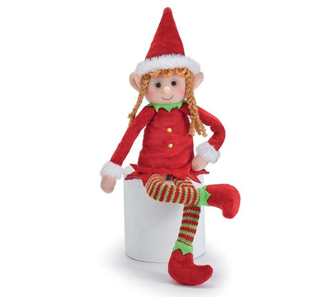 Girl Elf Christmas Plush
