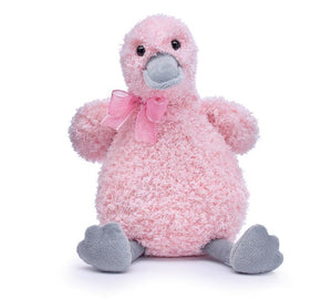 Soft Pink and Gray Duck Plush