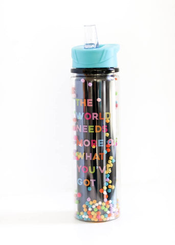The World Needs More Pom Water Bottle