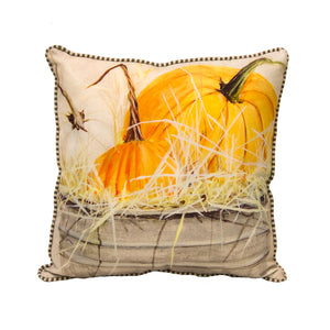Bucket of Pumpkins Pillow