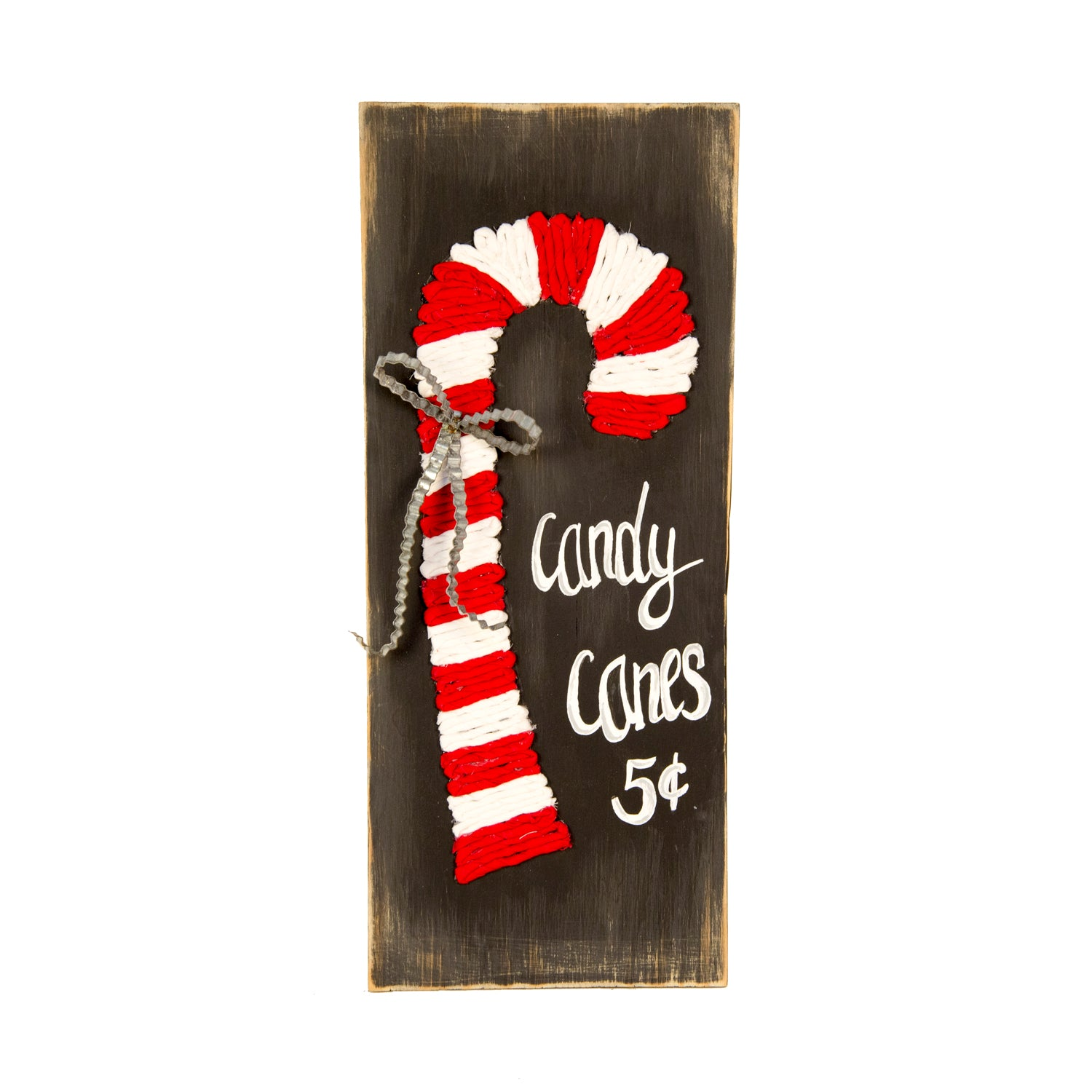 Fabric Candy Cane Sign