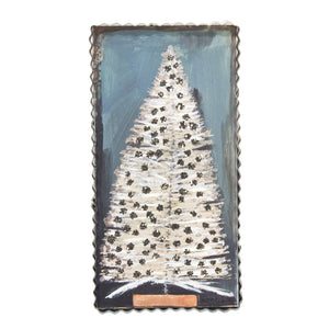 Vintage Bottle Brush Tree Sign