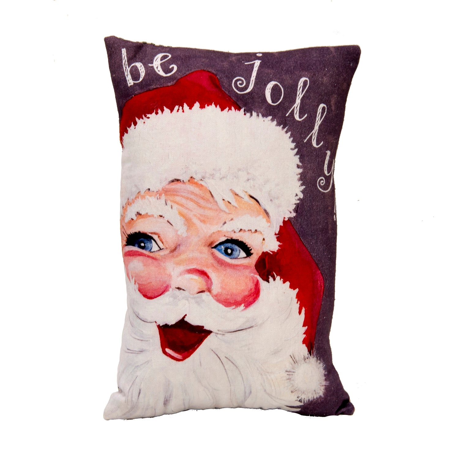 "Vintage ""Be Jolly"" Santa Pillow"