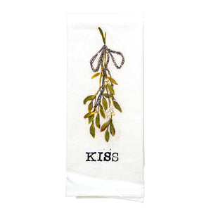 """KISS"" Mistletoe Towel"