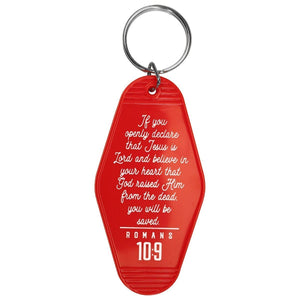 Retro Motel Keychain || Jesus Lives INN
