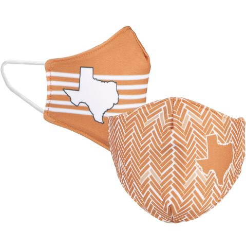 School Spirit Face Cover  || Burnt Orange + White