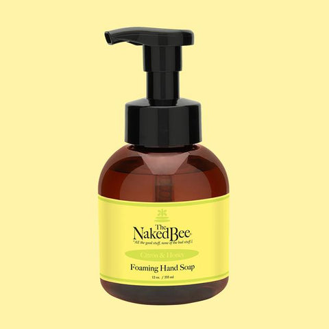 Naked Bee Foaming Hand Soap 12oz || Citron & Honey