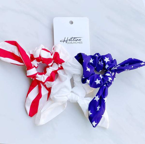 Hotline Hair Ties || Freedom Scrunchie Set