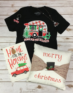 Home For The Holidays Camper Tee