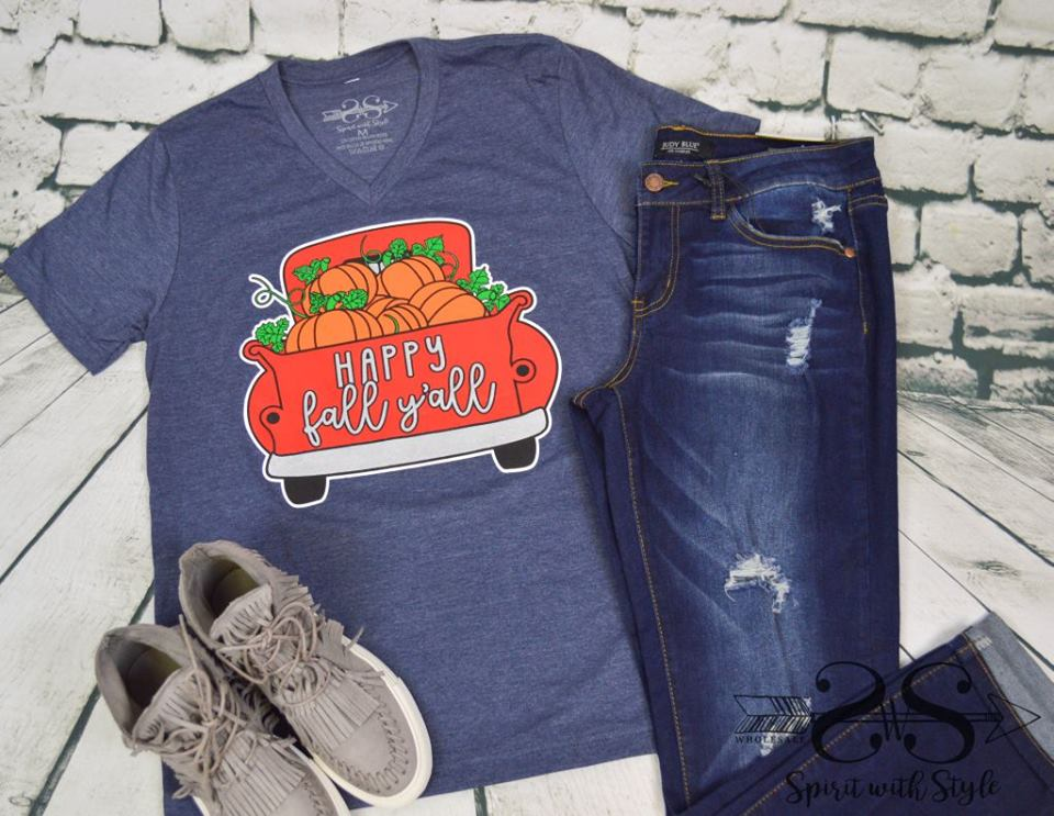 Happy Fall Y'all Pumpkin Truck Tee