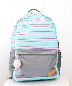 Mint Stripe Boss Babe Backpack
