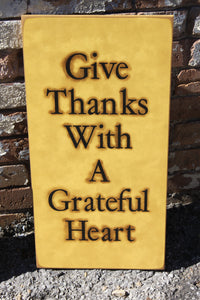 12x24 Give Thanks Grateful Hear