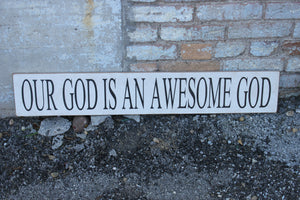 6X36 Our God is an Awesome God