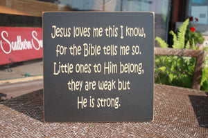 12x12 Jesus loves me this I...