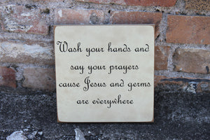 8x8 Wash Hands and Say Prayers