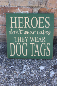 12x12 Hero Dog Tags