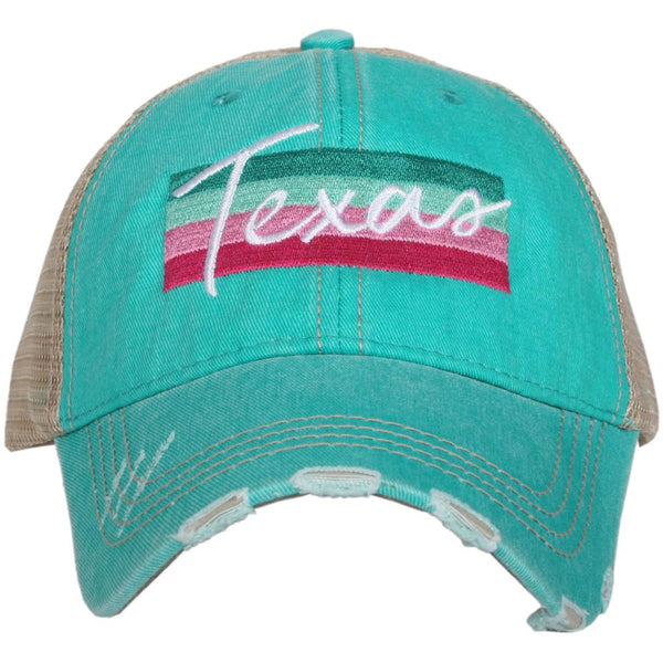 Texas Striped Trucker Hat