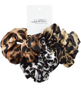 Hotline Hair Ties || Leopard Scrunchie Set
