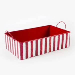 Peppermint Rectangle Tray w/ Handles