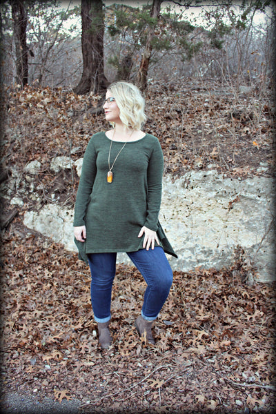 The Sarah Knit Tunic in Olive