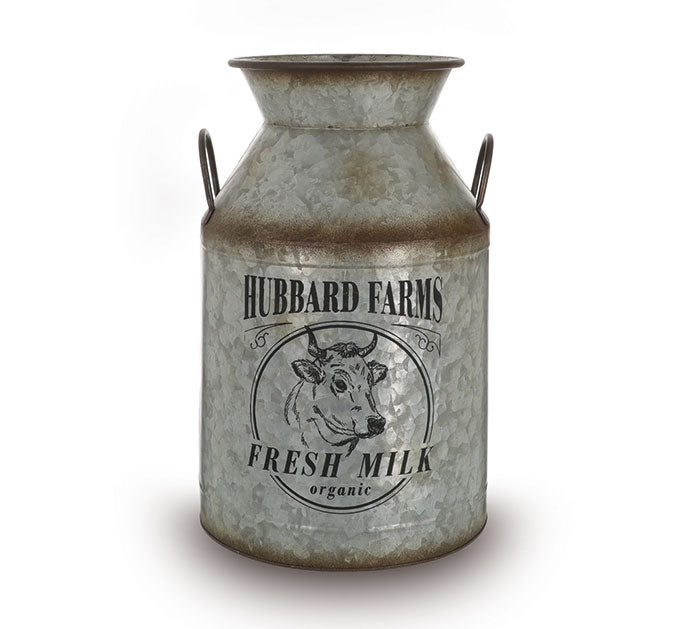 Hubbard Farms Tin Milk Jug