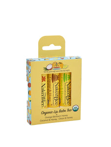 Naked Bee || Organic Lip Balm Trio Gift Set
