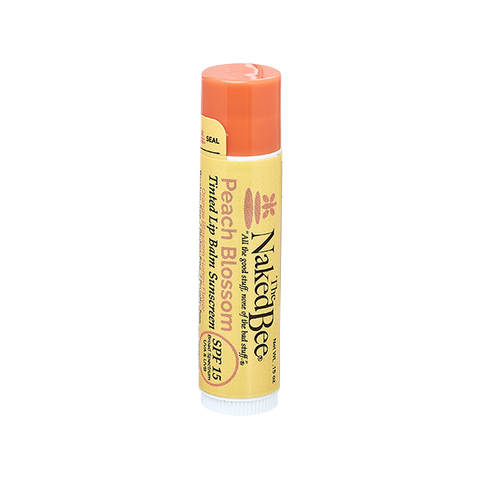 Naked Bee || Tinted Lip Balm in Peach Blossom