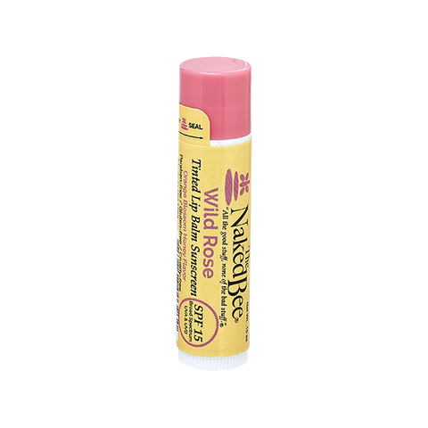 Naked Bee || Tinted Lip Balm in Wild Rose
