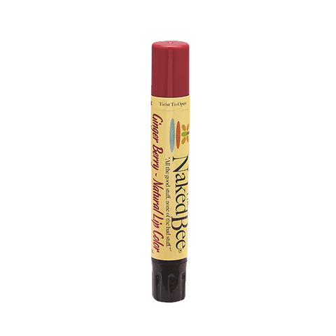 Naked Bee || Shimmering Lip Color in Ginger Berry