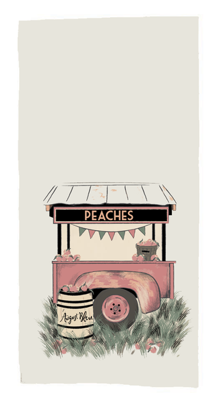 Just Peachy AB Tea Towel