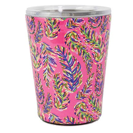 Pink Frond Stainless Coffee Tumbler