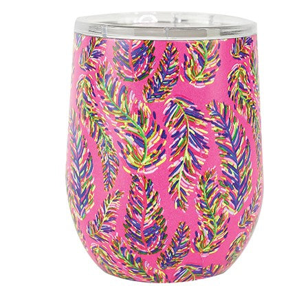 Pink Frond Stainless Drink Tumbler