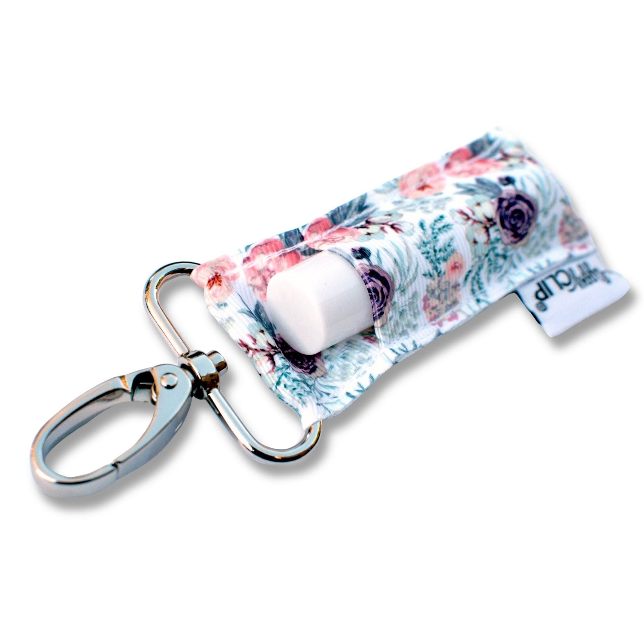 Lippy Clip || Purple and Coral Floral