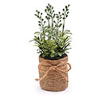 Floral Rosemary in Burlap