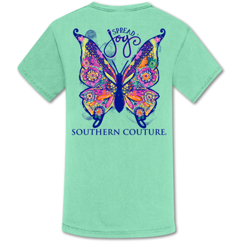 Spread Joy Butterfly Comfort Color T-Shirt