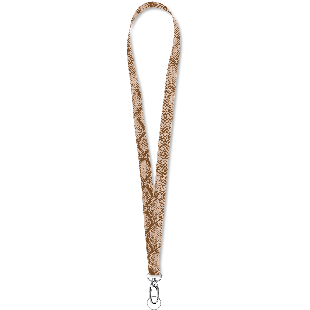 Lanyard || Brown Snakeskin