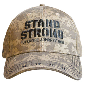Stand Strong Armor of God Camo Hat