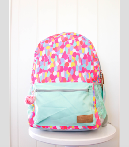 "Big Confetti ""Girl on a Mission"" Backpack"