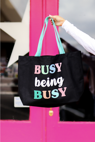 Busy Being Busy Tote Bag