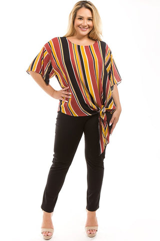 Molly Striped Side-Tie Top